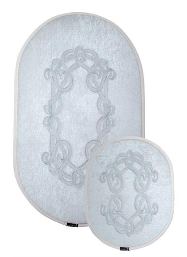 ikinciten Banyo Klozet Paspası Halısı Takım Kaymaz Yıkanabilir Ekru 100X60-60X50 Ekru